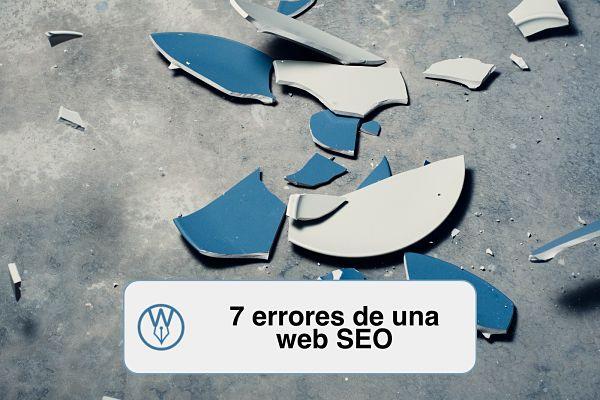 7 errores en una web SEO