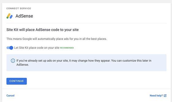 Activar AdSense en Site Kit de Google