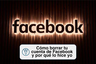 Como borrar tu cuenta de facebook y por que