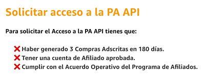 Como conseguir acceso a la API de Amazon afiliados