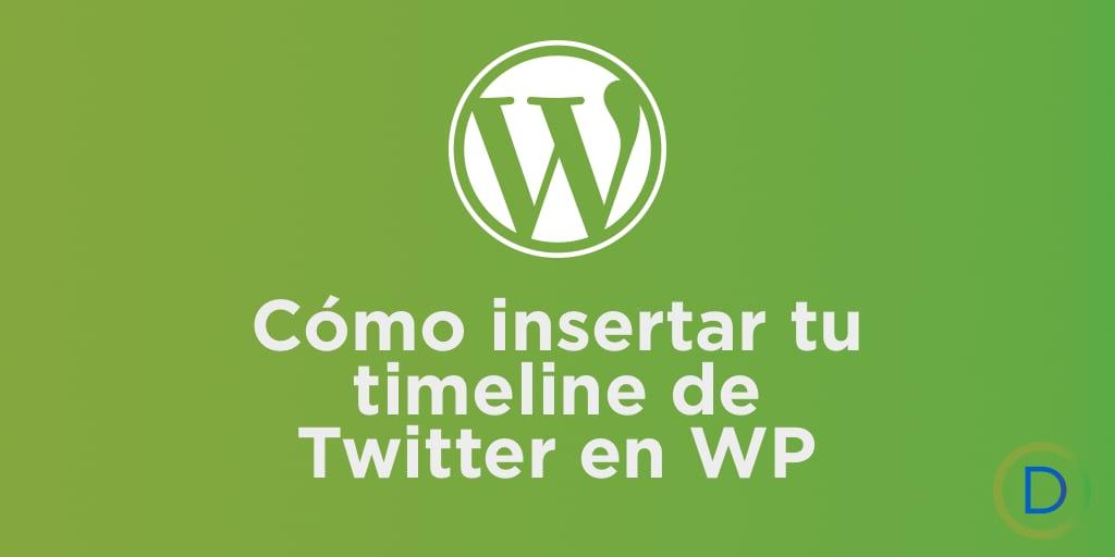 Como insertar twitter en WordPress