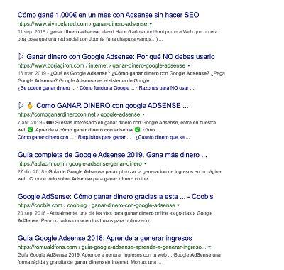 Competencia en Google SEO