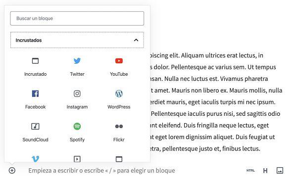 Incrustar el timeline de Twitter en WordPress usando bloques de Gutenberg
