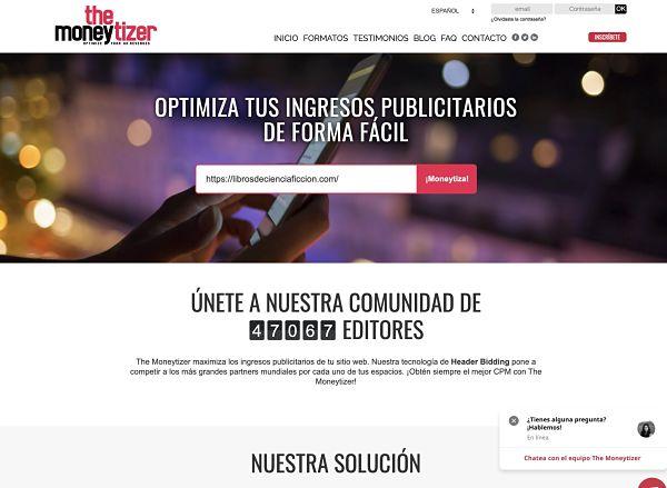 Inscripcion en The MoneyTizer plataforma publicitaria