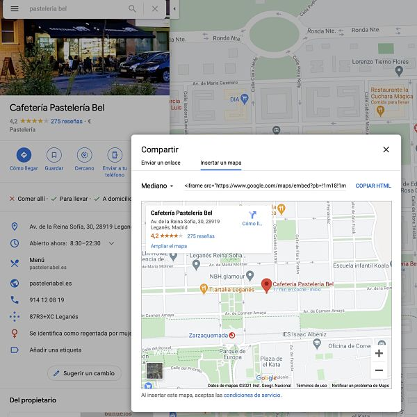 Insertar mapa de Google Maps para SEO local