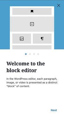 Pop up de bienvenida al nuevo editor